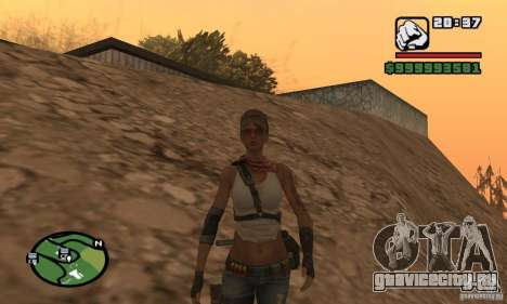 Новая военная девушка для GTA San Andreas второй скриншот