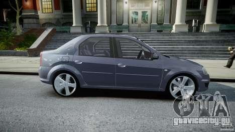 Renault Logan для GTA 4 вид изнутри