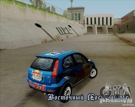 Ford Fiesta ST Rally для GTA San Andreas вид изнутри