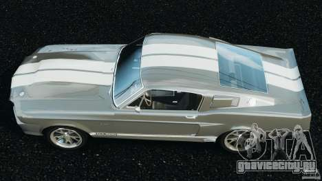 Shelby GT 500 Eleanor v2.0 для GTA 4 вид справа