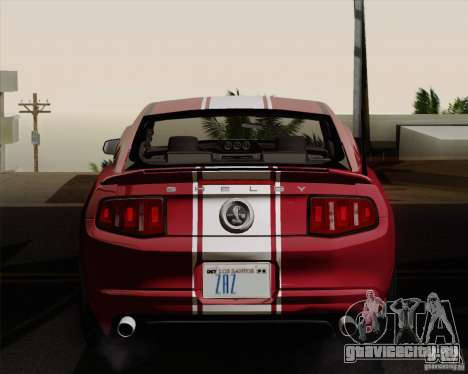 Ford Shelby GT500 Super Snake 2011 для GTA San Andreas вид справа