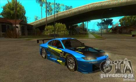 Nissan Silvia S15 - GT для GTA San Andreas вид сзади
