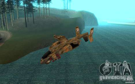 Косатка air Command & Conquer 3 для GTA San Andreas вид сзади слева