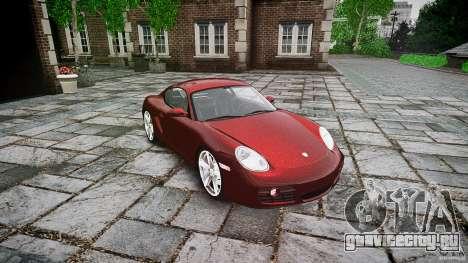 Porsche Cayman S v1 для GTA 4 вид сзади