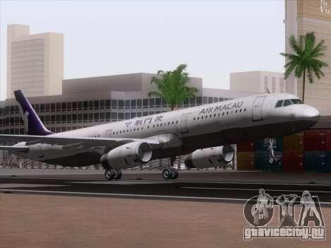 Airbus A321 Air Macau для GTA San Andreas вид слева