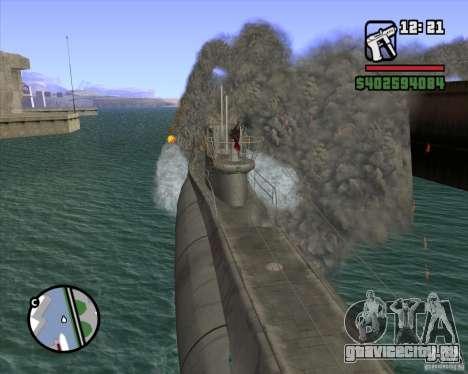 U99 German Submarine для GTA San Andreas шестой скриншот