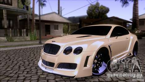 Bentley Continental GT Premier 2008 V2.0 для GTA San Andreas вид сверху
