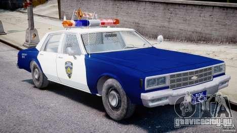 Chevrolet Impala Police 1983 для GTA 4 вид изнутри