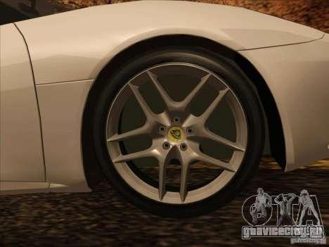 Lotus Evora для GTA San Andreas вид изнутри