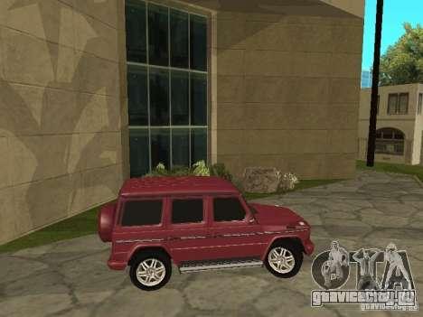 Mercedes-Benz G500 1999 Депутат для GTA San Andreas вид сзади слева