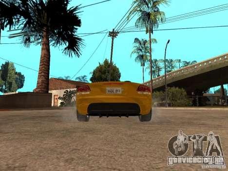 Dodge Viper SRT10 Impostor Tuning для GTA San Andreas вид сзади слева