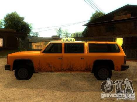 Taxi Rancher для GTA San Andreas вид слева