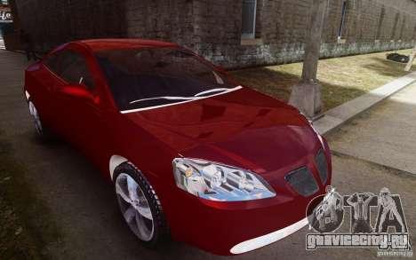 Pontiac G6 для GTA 4 вид сбоку