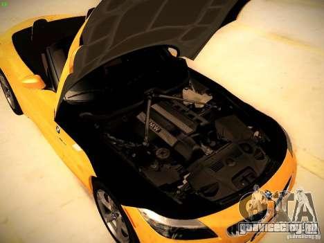 BMW Z4 sDrive28i 2012 для GTA San Andreas вид изнутри