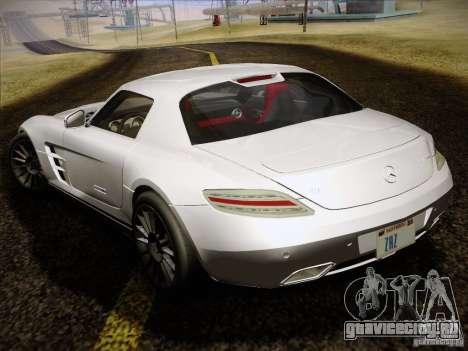 Mercedes-Benz SLS AMG для GTA San Andreas вид изнутри