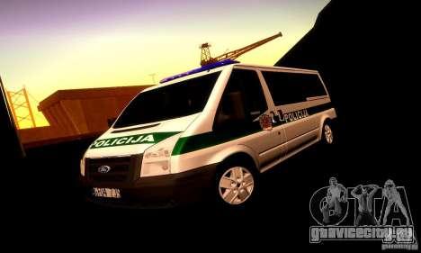 Ford Transit Policija для GTA San Andreas вид сверху