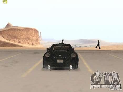 Mitsubishi Eclipse GT NFS-MW для GTA San Andreas вид сзади слева