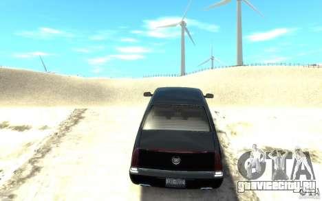 Cadillac DTS v 2.0 для GTA 4 вид сзади слева