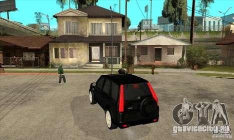 Honda CRV (MK2) для GTA San Andreas вид сзади слева