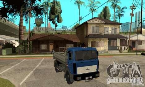 МАЗ 5551 Самосвал для GTA San Andreas вид сзади