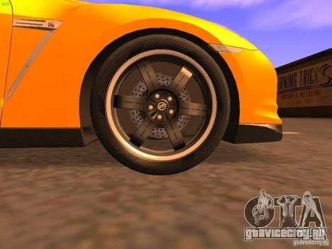 Nissan GT-R SpecV Black Revel для GTA San Andreas вид сверху