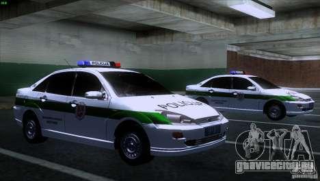 Ford Focus Policija для GTA San Andreas вид справа