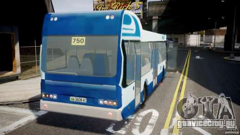 DAF Berkhof City Bus Amsterdam для GTA 4 вид сзади слева