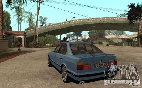 BMW E34 535i 1994 для GTA San Andreas вид сзади слева