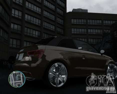 Audi A1 v.2.0 для GTA 4 вид справа