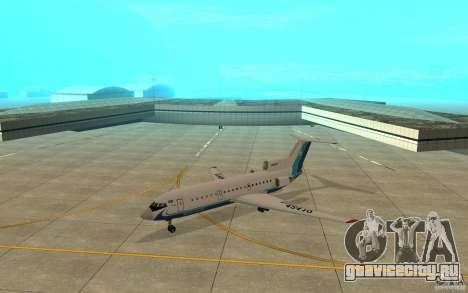 Як-42Д Скат (Казахстан) для GTA San Andreas вид слева