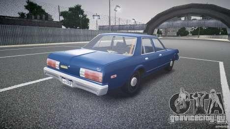 Dodge Aspen v1.1 1979 для GTA 4 вид сбоку