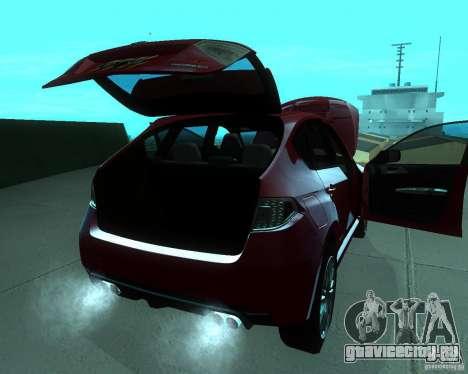 Subaru Impreza WRX STI Stock для GTA San Andreas