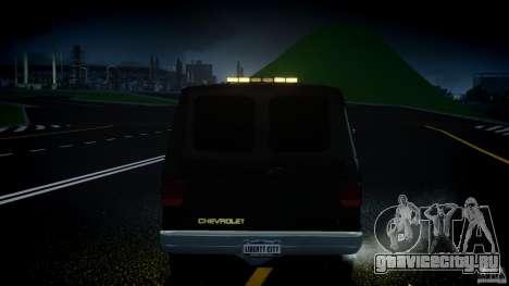 Chevrolet G20 Police Van [ELS] для GTA 4 салон