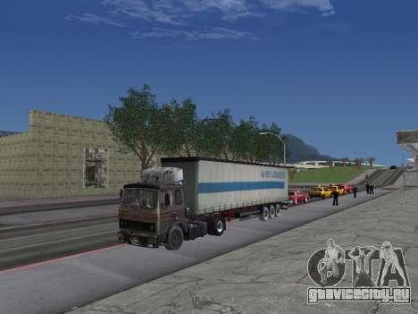 МАЗ 5551 Колхоз для GTA San Andreas вид изнутри