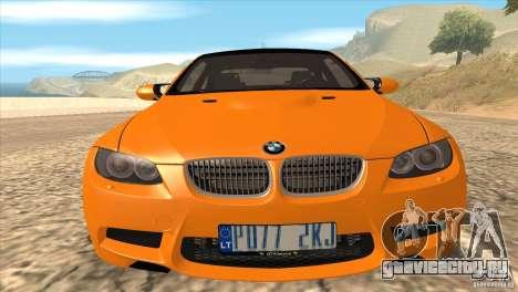 BMW M3 E92 для GTA San Andreas салон