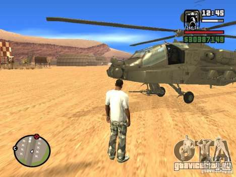 AH-64D Longbow Apache для GTA San Andreas вид справа