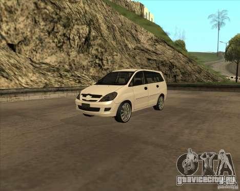Toyota Innova для GTA San Andreas