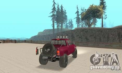 Dodge Ram Prerunner для GTA San Andreas вид слева