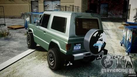 Mitsubishi Pajero I [Final] для GTA 4 вид изнутри