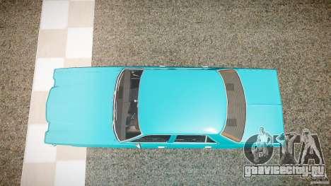 Dodge Aspen v1.1 1979 yellow rear turn signals для GTA 4 вид справа