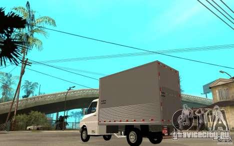 Mercedes-Benz Sprinter Truck для GTA San Andreas вид сзади слева