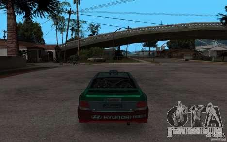 Hyundai Accent WRC для GTA San Andreas вид сзади слева