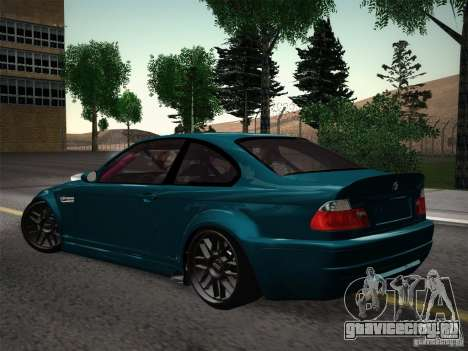 BMW E46 Drift II для GTA San Andreas вид сзади