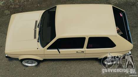 Volkswagen Golf Mk1 Stance для GTA 4 вид справа