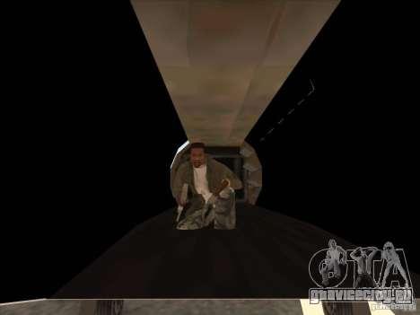Cargo Shamal для GTA San Andreas вид изнутри