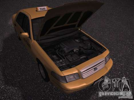 Ford Crown Victoria Taxi 2003 для GTA San Andreas вид сзади
