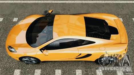 McLaren MP4-12C v1.0 [EPM] для GTA 4 вид справа