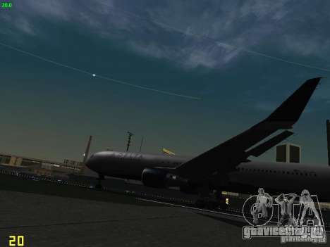 Boeing 767-400ER Delta Airlines для GTA San Andreas вид изнутри