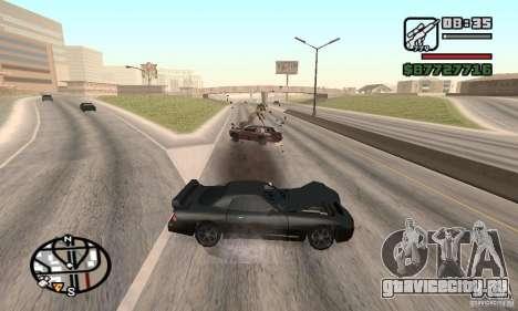 Потеря жизней при аварии для GTA San Andreas второй скриншот