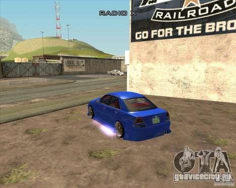 Toyota JZX110 make 2 для GTA San Andreas вид слева
